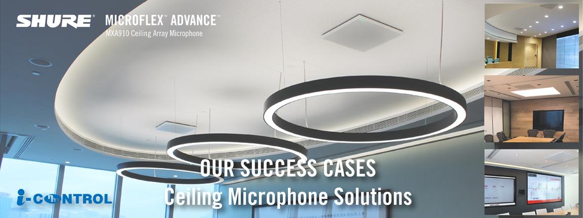 Success Cases Shure Mxa910 Ceiling Microphone Explore